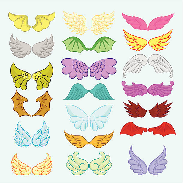 Wings Cute Collection Part II vector art illustration