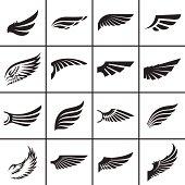 Wings design elements set
