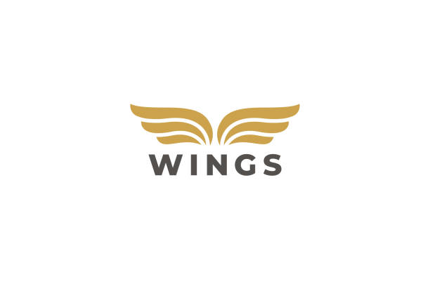 Wings Emblem Vector Design Template. Delivery, business, cargo, success, money, deal, contract, team, cooperation symbol. Wings Emblem Vector Design Template. Delivery, business, cargo, success, money, deal, contract, team, cooperation symbol. aircraft wing stock illustrations