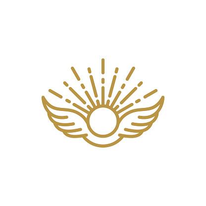 wings icon symbol design vector illustration