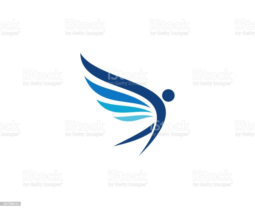 Wings icon vector art illustration