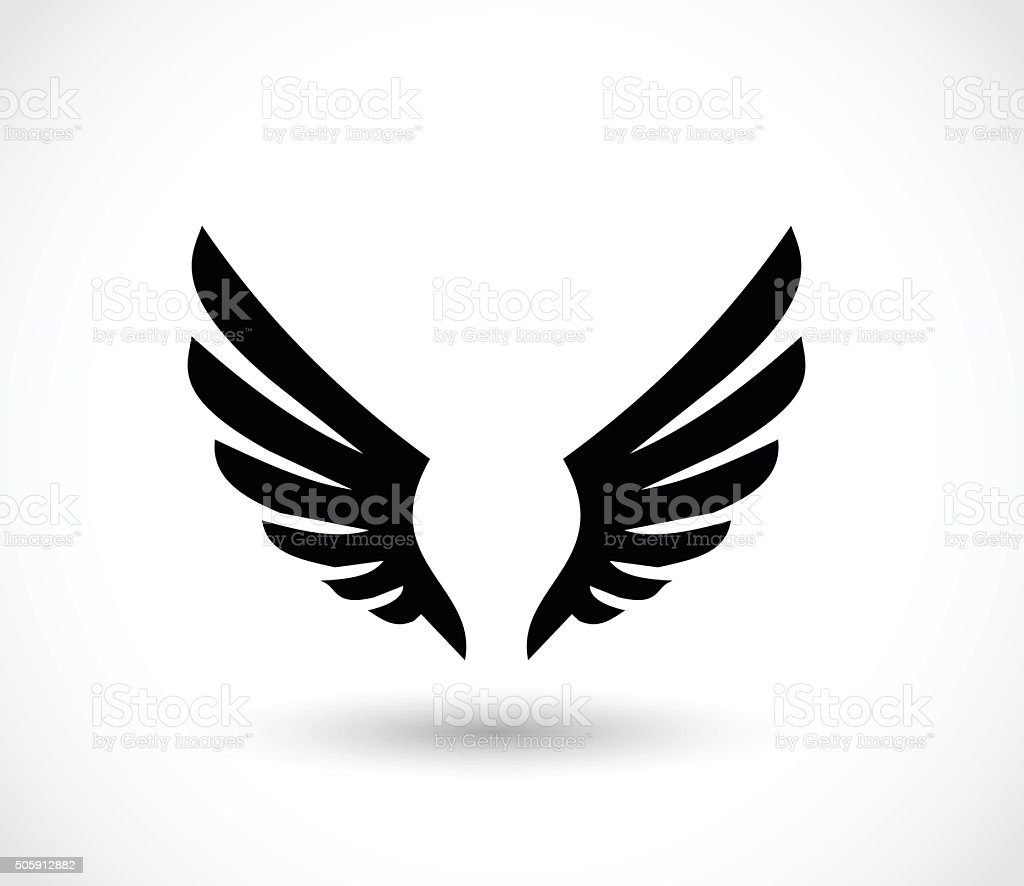 Wings icon vector illustration vector art illustration
