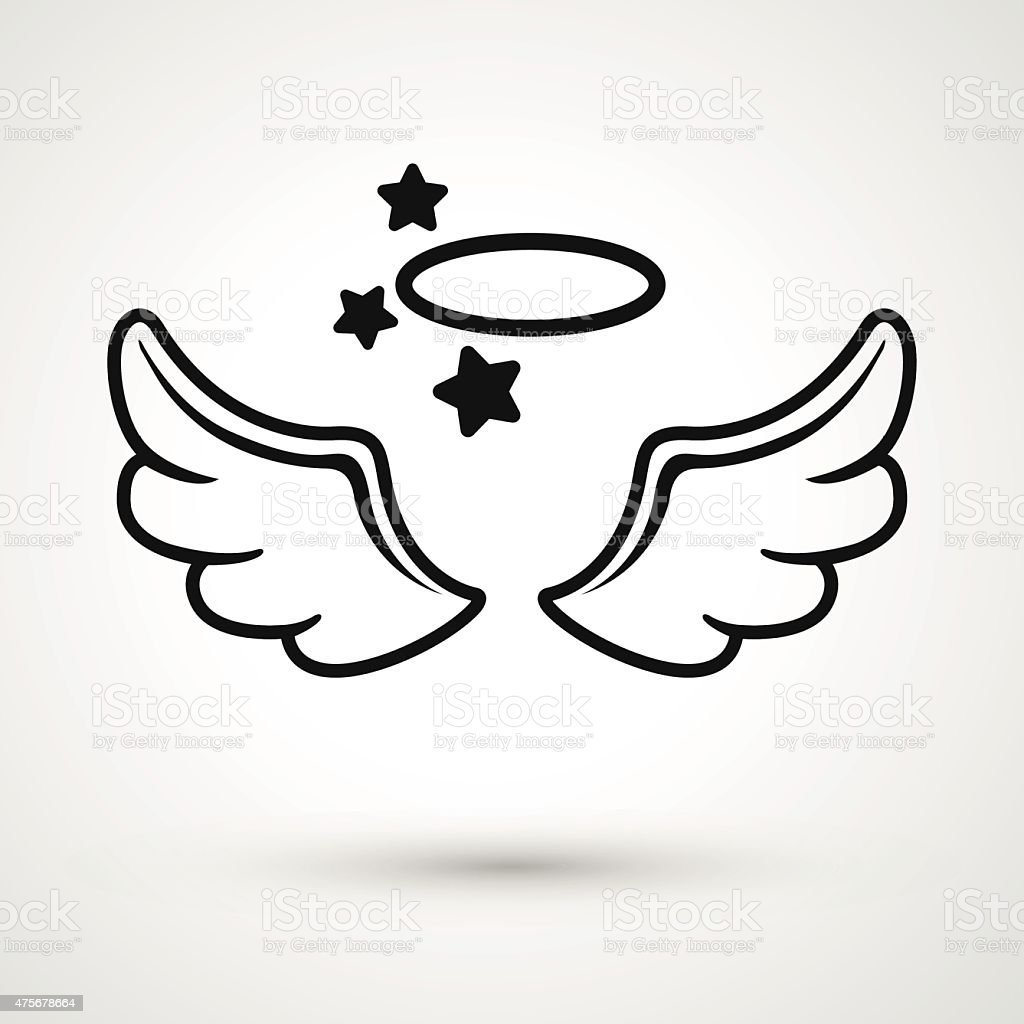 wings icon vector vector art illustration