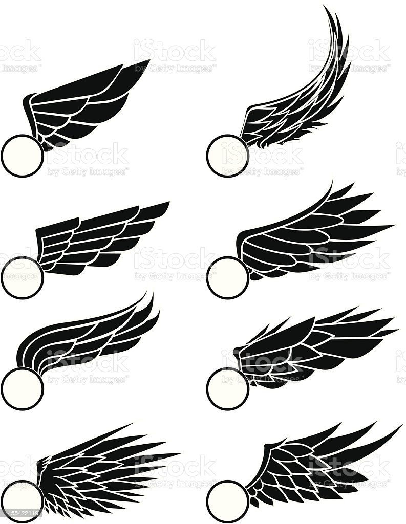 wings illustration. royalty-free stock vector art