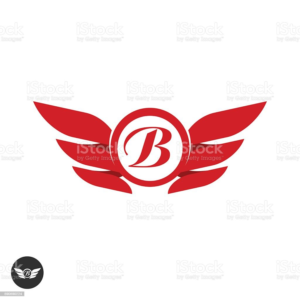 b logo with wings clipart library