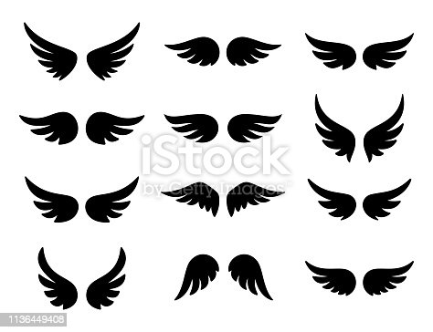 Wings logo set. Vector illustration