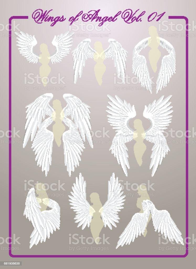 Wings of Angel Vol.01 vector art illustration