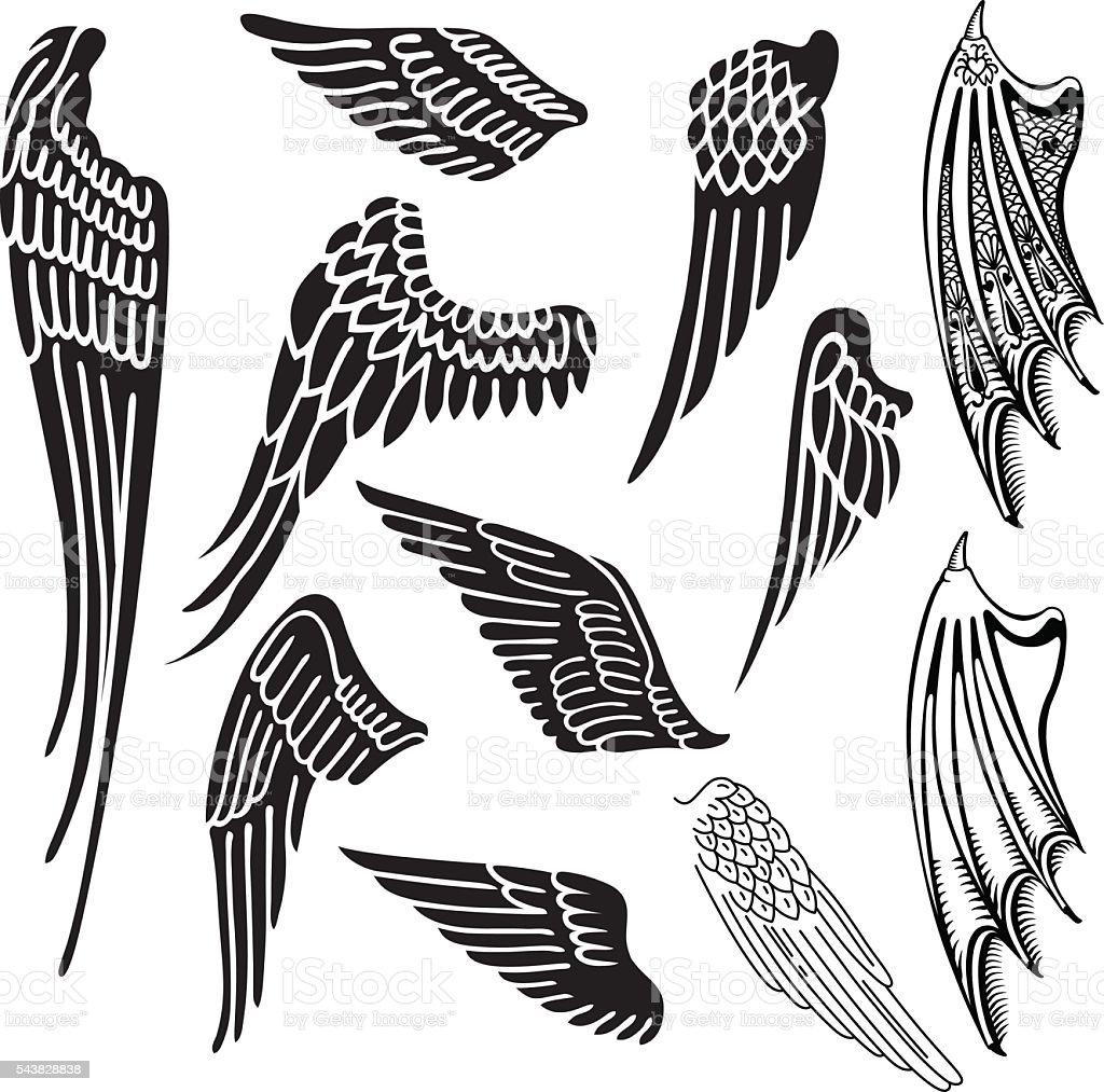 Juego de alas - ilustración de arte vectorial