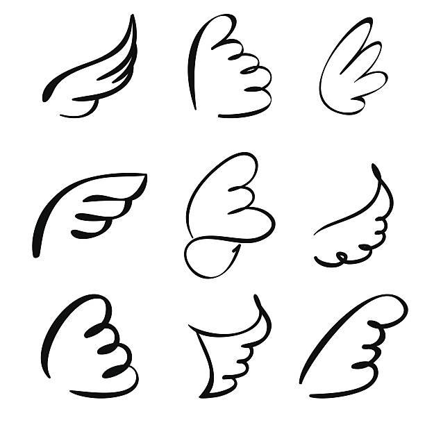 Wings set vector  illustration vector art illustration