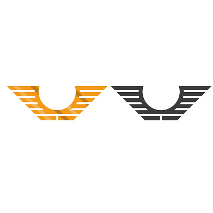 Wings vector. icon in flat design