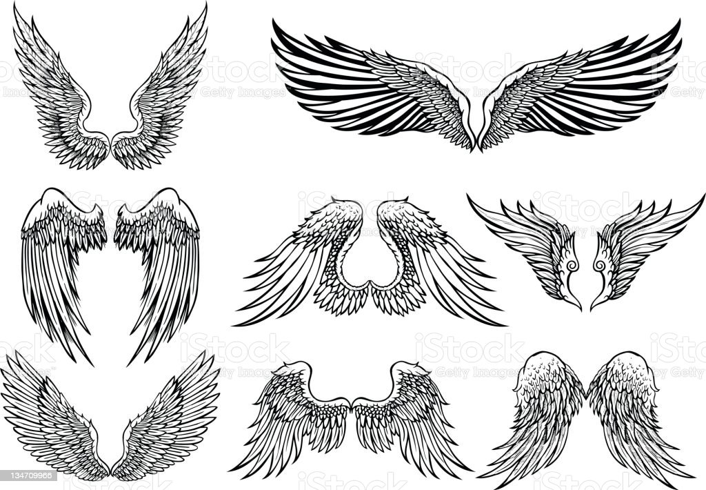 Wings royalty-free wings stock vector art & more images of angel
