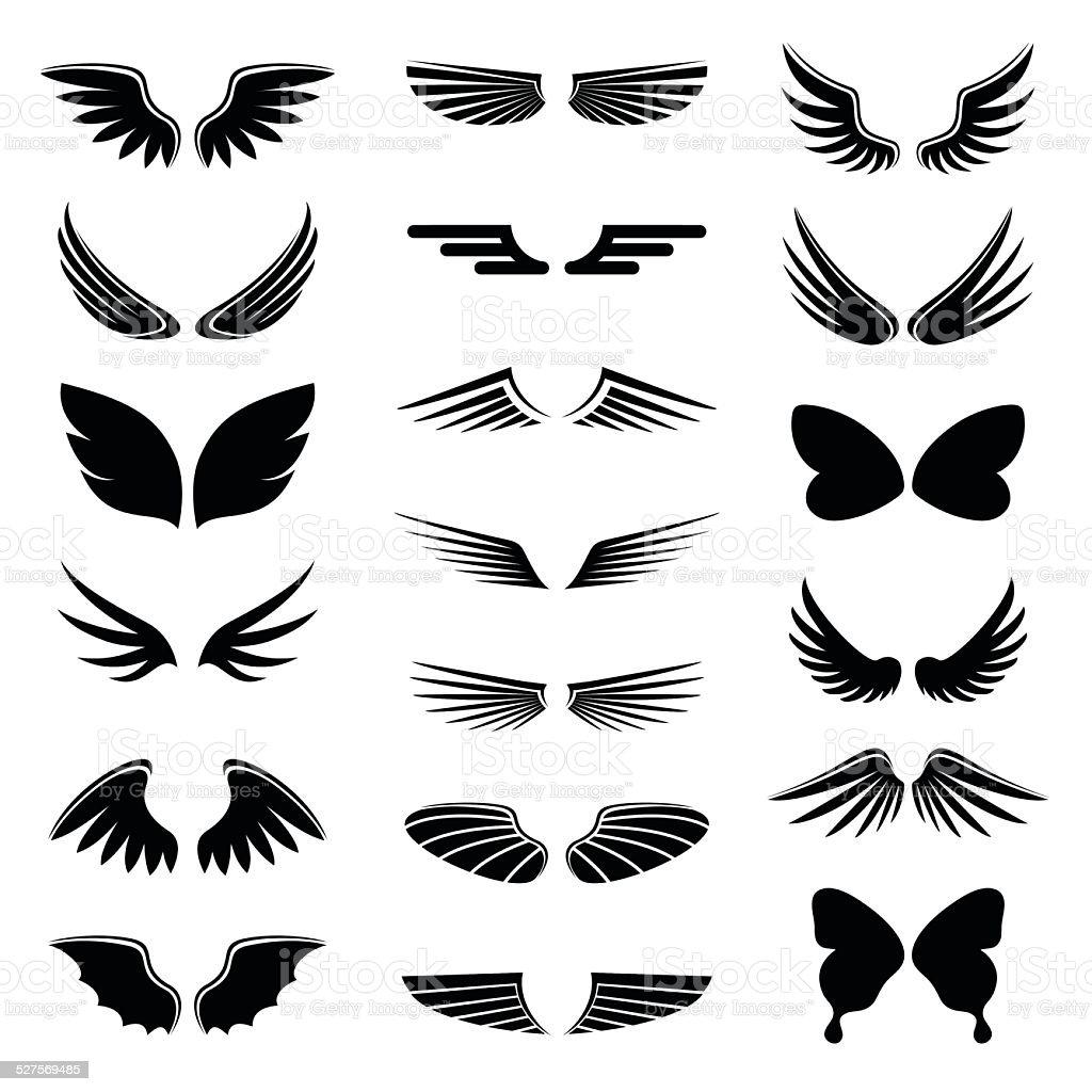 wings vector art illustration