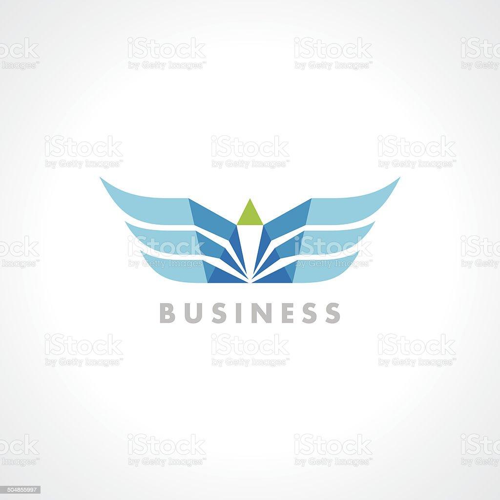 Wings.Vector illustration ready for vinyl cutting vector art illustration