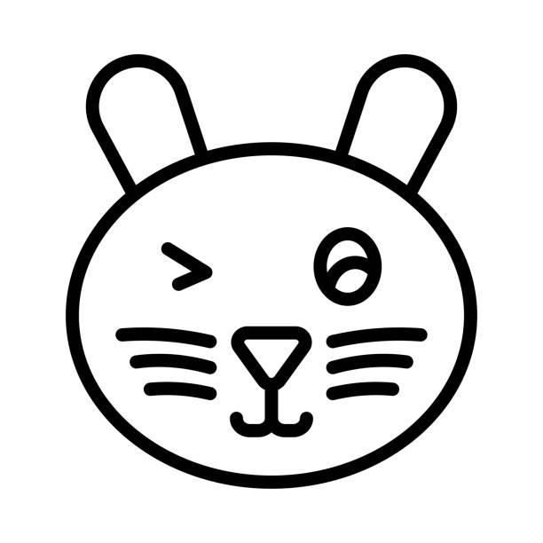 augenzwinkern gesicht emoji - feststecken stock-grafiken, -clipart, -cartoons und -symbole