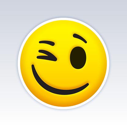 Winking Emoji Face