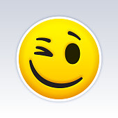 istock Winking Emoji Face 1255161568