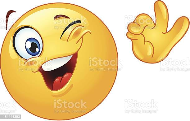 Winking Emoticon Stock Illustration - Download Image Now