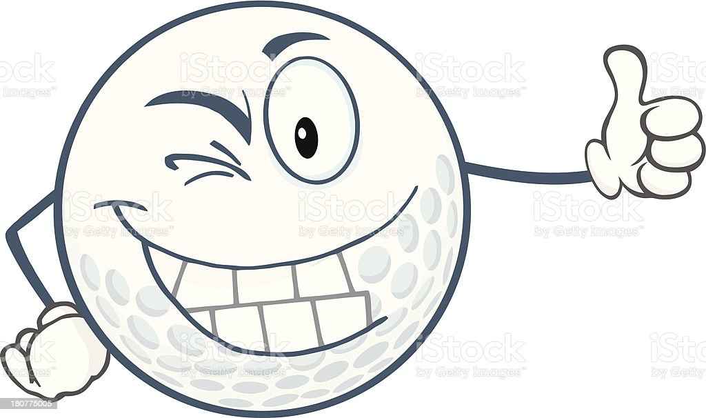 Faire Un Clin Doeil Balle De Golf Personnage De Dessin Anime Tenant Un Pouce Leve Vecteurs Libres De Droits Et Plus D Images Vectorielles De Art Pictural Istock