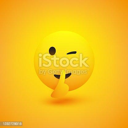 istock Winking, Shushing Face 1232729315