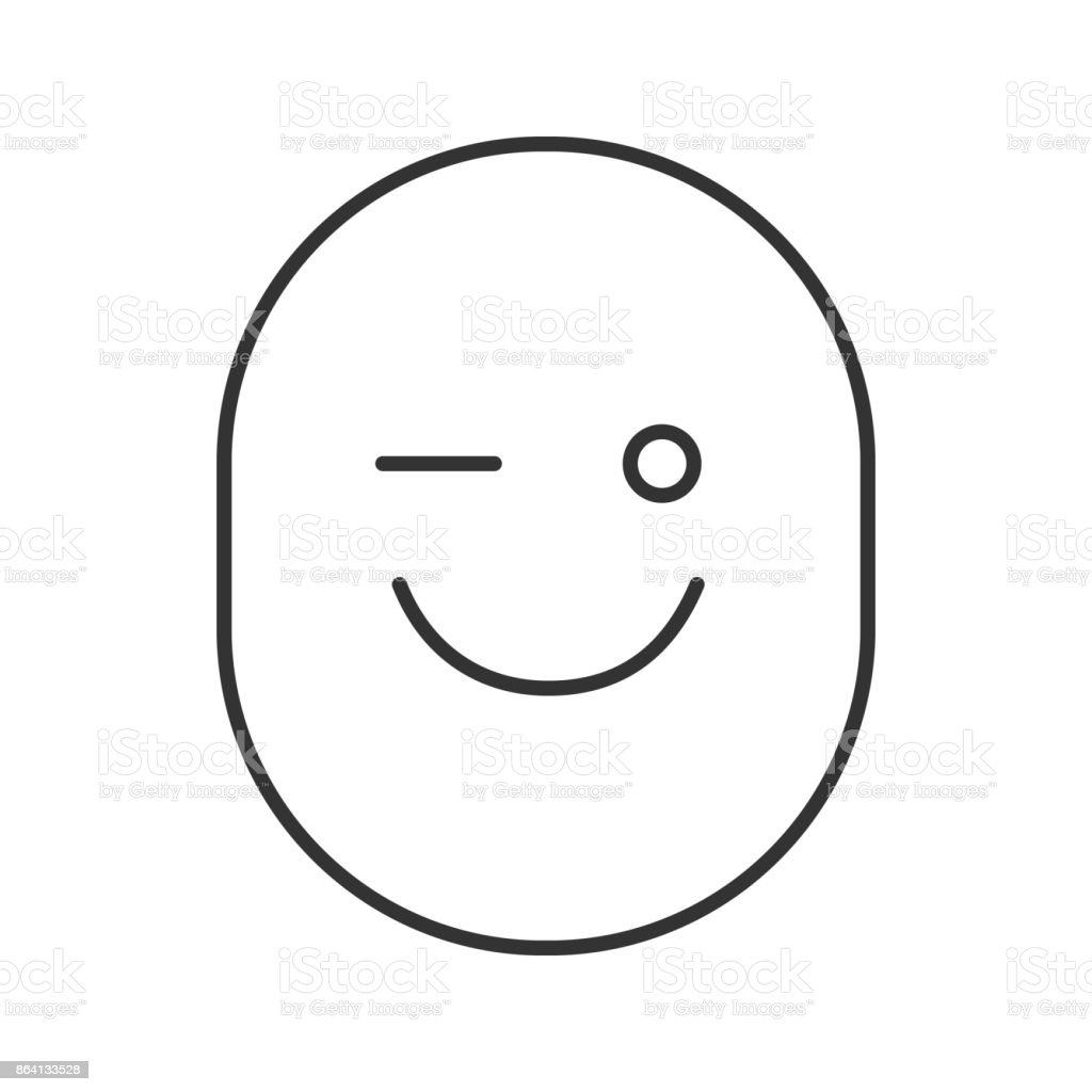 Winking smiley icon royalty-free winking smiley icon stock vector art & more images of blinking