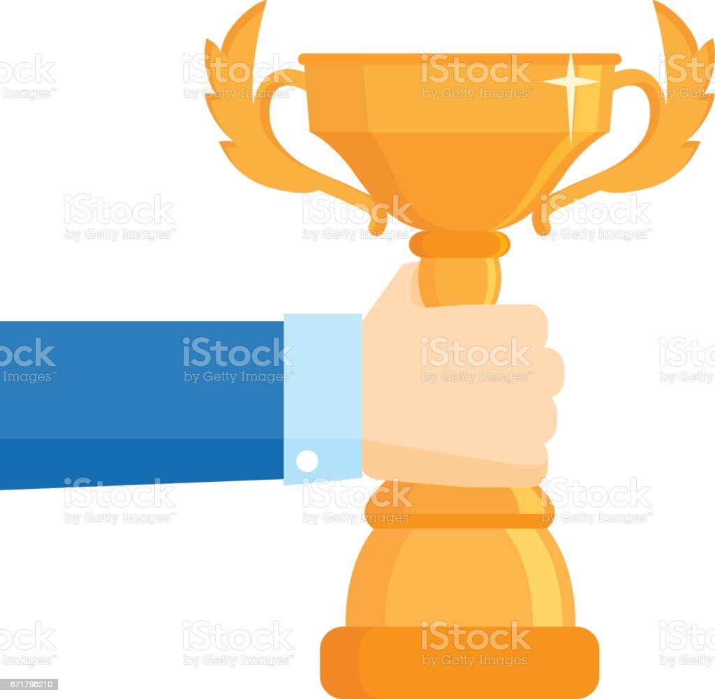 Winner award vector illustration. Business goal achievement vector concept. vector art illustration