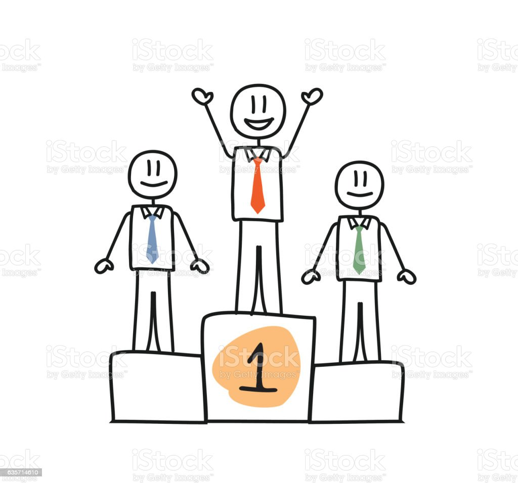 Winner Businessman on First Place royalty-free winner businessman on first place stock vector art & more images of adult