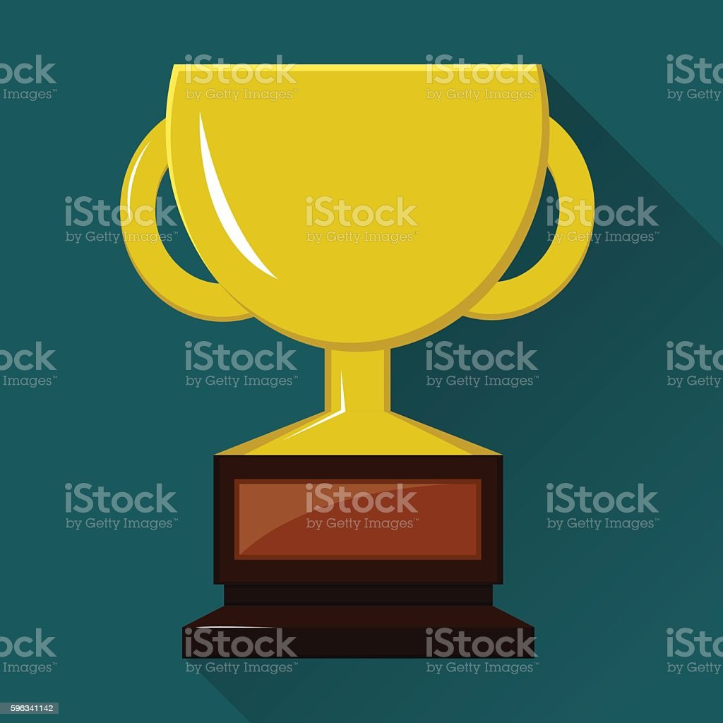 Winner cup. Flat vector icon. royalty-free winner cup flat vector icon stock vector art & more images of achievement