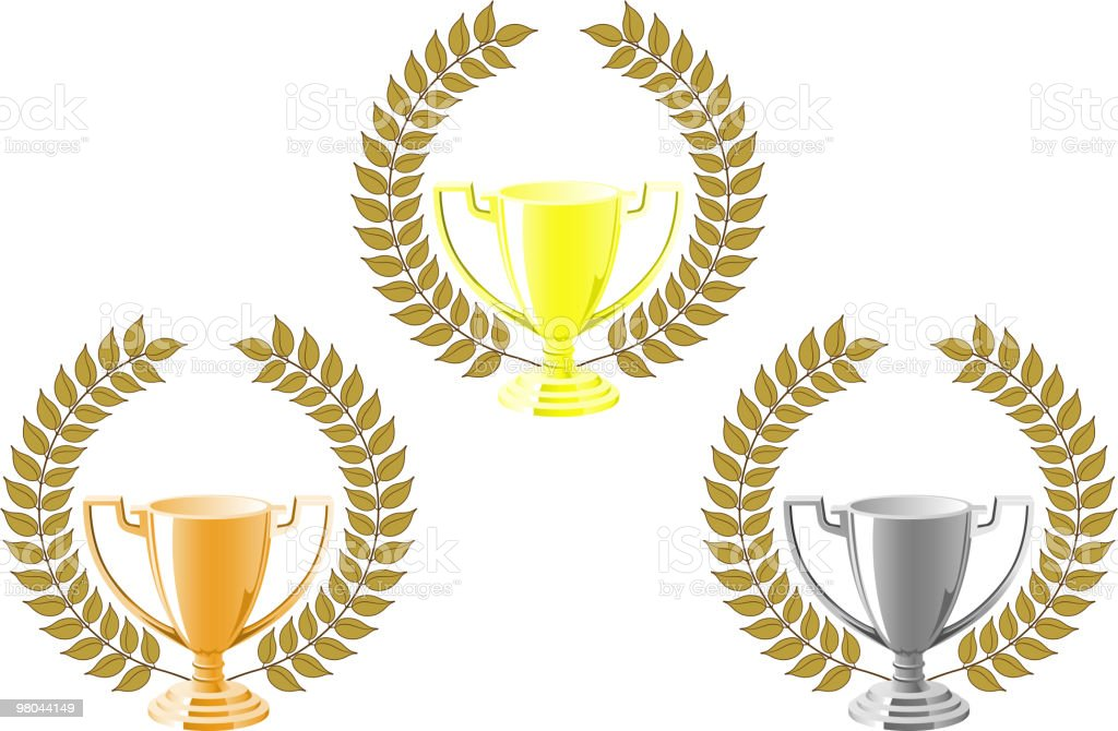 Winner cups royalty-free winner cups stock vector art & more images of bay tree
