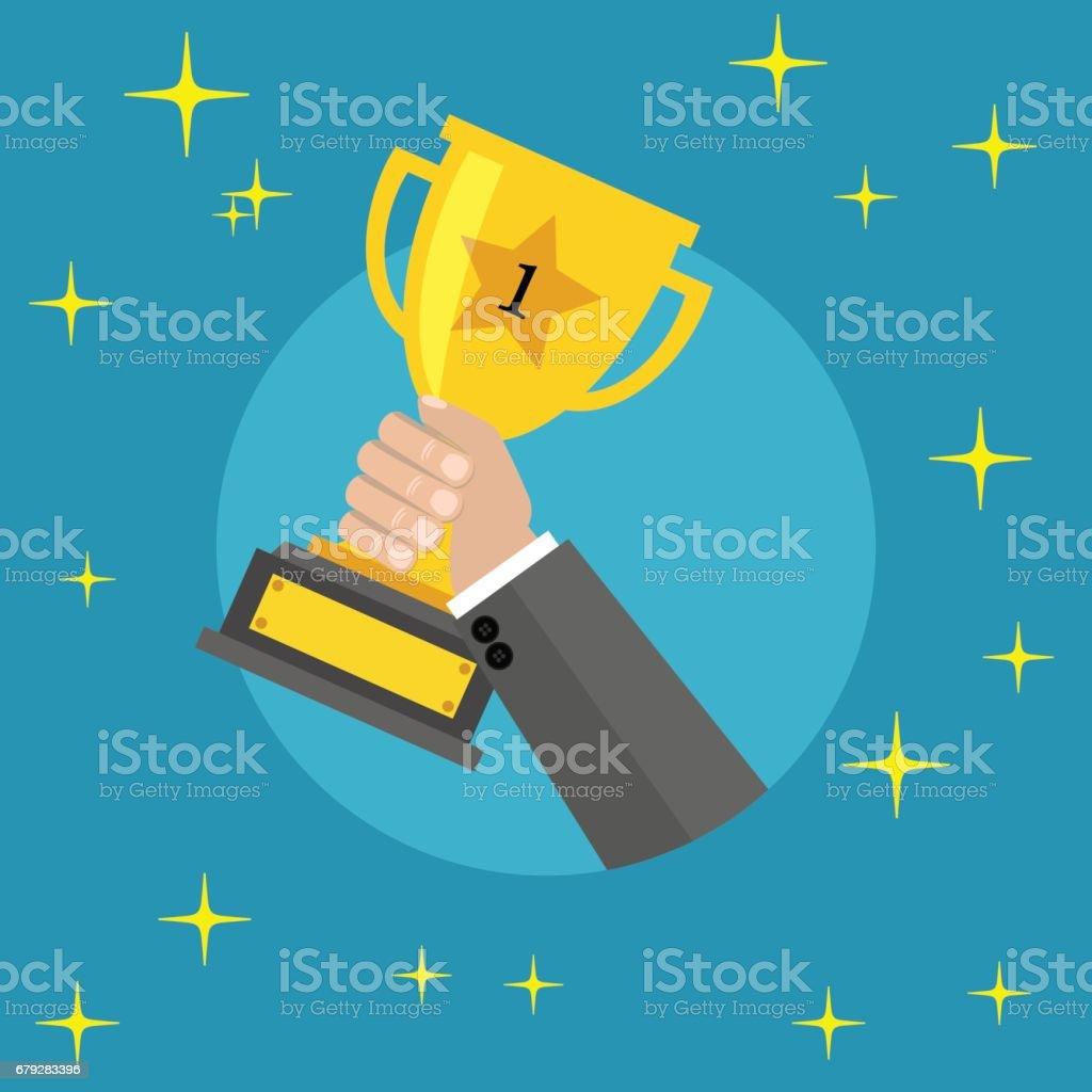 winner gold trophy winner gold trophy – cliparts vectoriels et plus d'images de adulte libre de droits