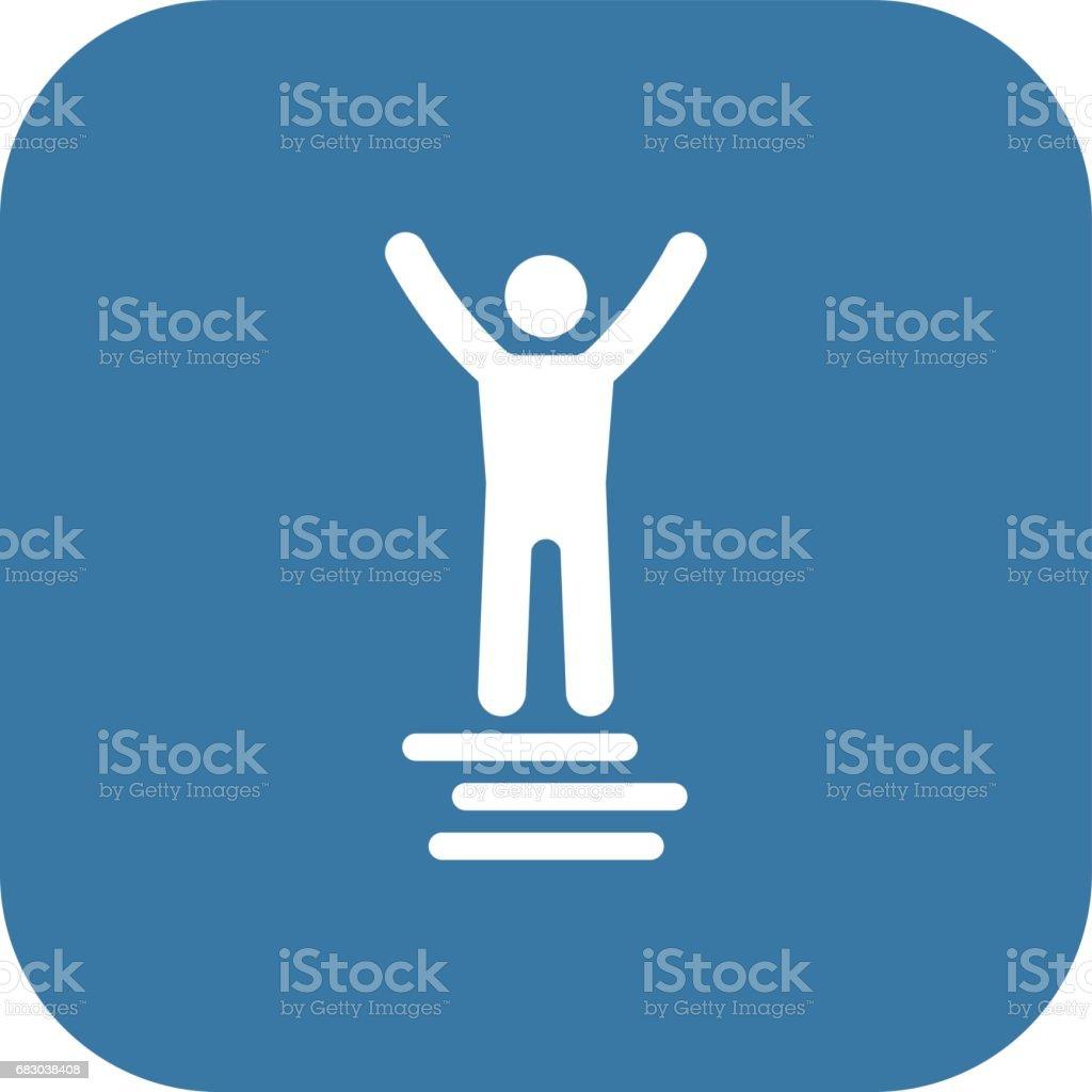 Winner Icon. Business Concept. Flat Design. winner icon business concept flat design - arte vetorial de stock e mais imagens de adulto royalty-free