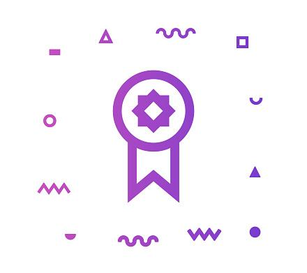 Winner Line Style Icon Design