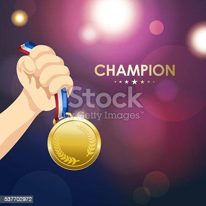 istock Winner Medal 537702972