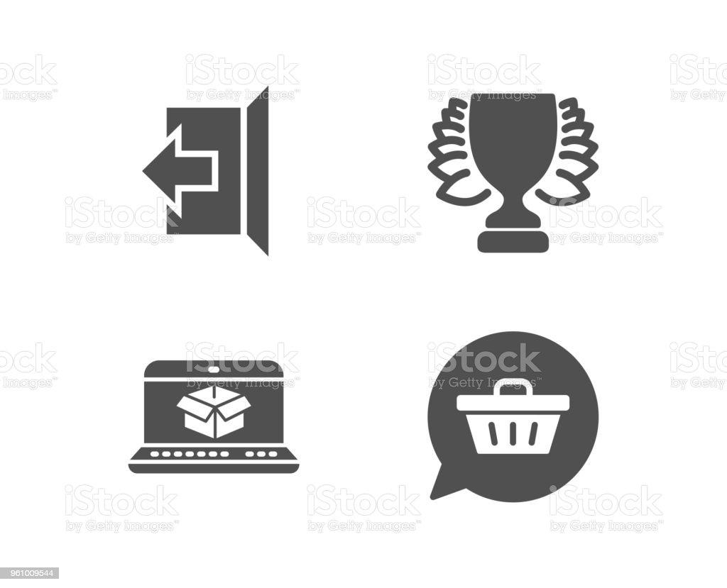 Sieger, Online-Versand und Zeichen, Symbole. Shopping Cart-Zeichen. - Lizenzfrei Ausverkauf Vektorgrafik