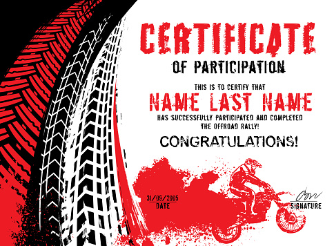 Winner or participation certificate