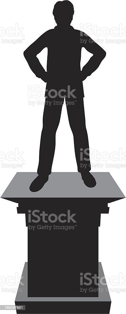 Winner Pedestal - Man royalty-free winner pedestal man stock vector art & more images of achievement