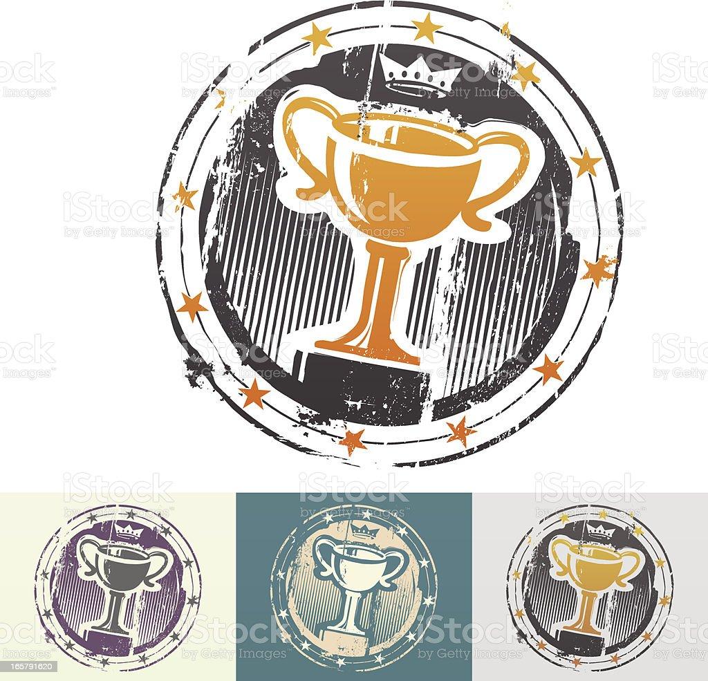 Winner rubber stamp royalty-free stock vector art