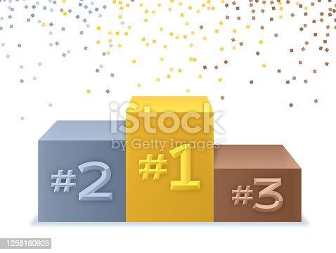 istock Winner Success Podium Ceremony 1258160925