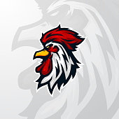 Winner Winner Chicken Dinner Head Mascot Logo Gaming Esports
