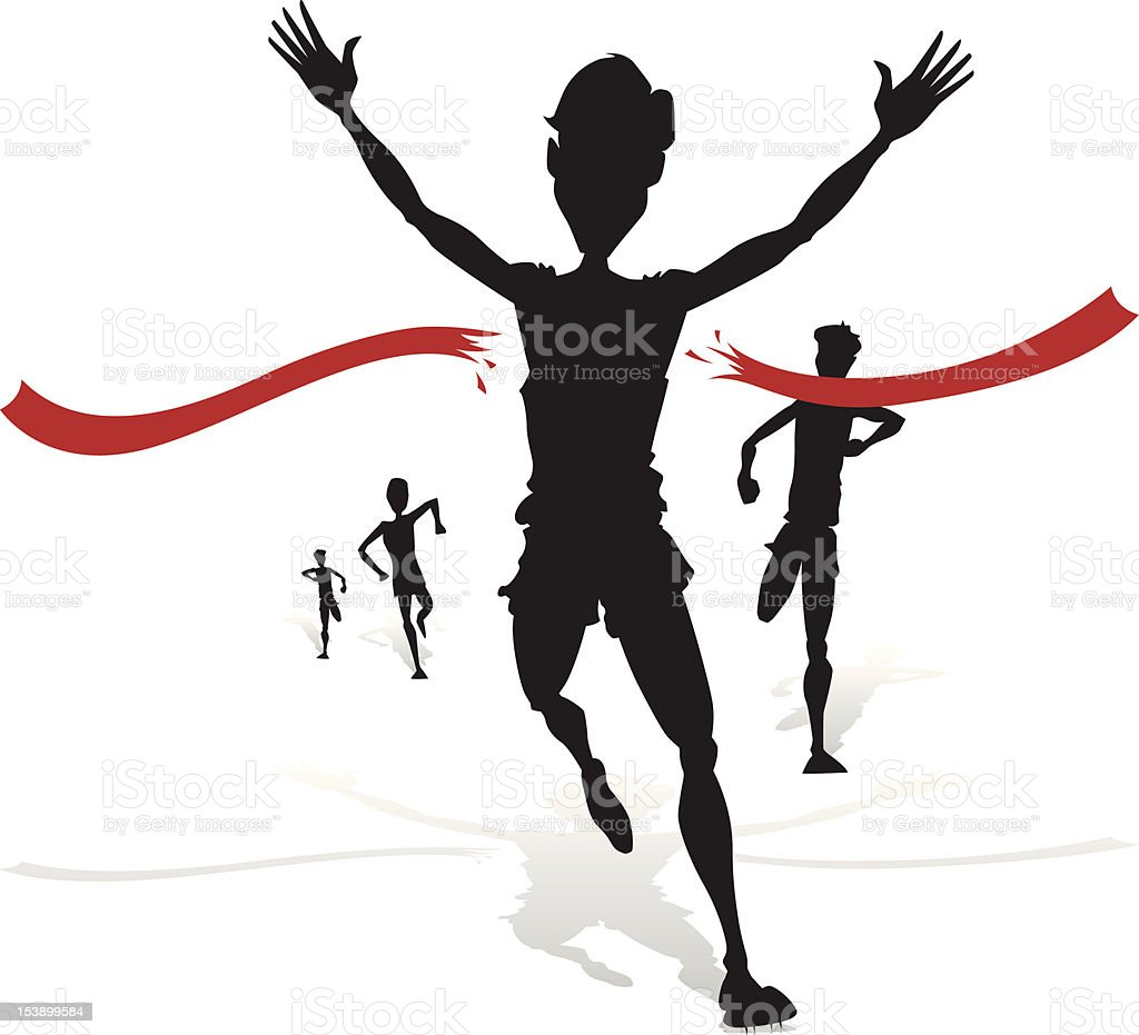 Winning Athlete Silhouette royalty-free stock vector art