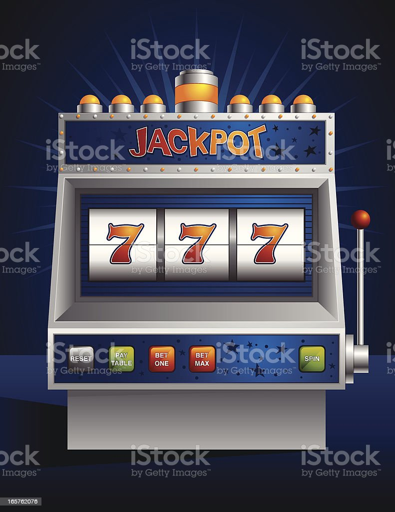 Winning Slot Machine vector art illustration
