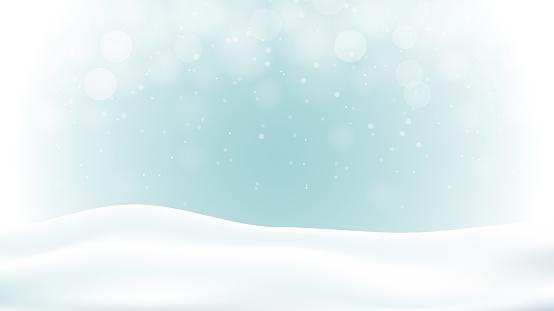 Winter abstract illustration background design. Bokeh light blue background. 10 eps vecor.
