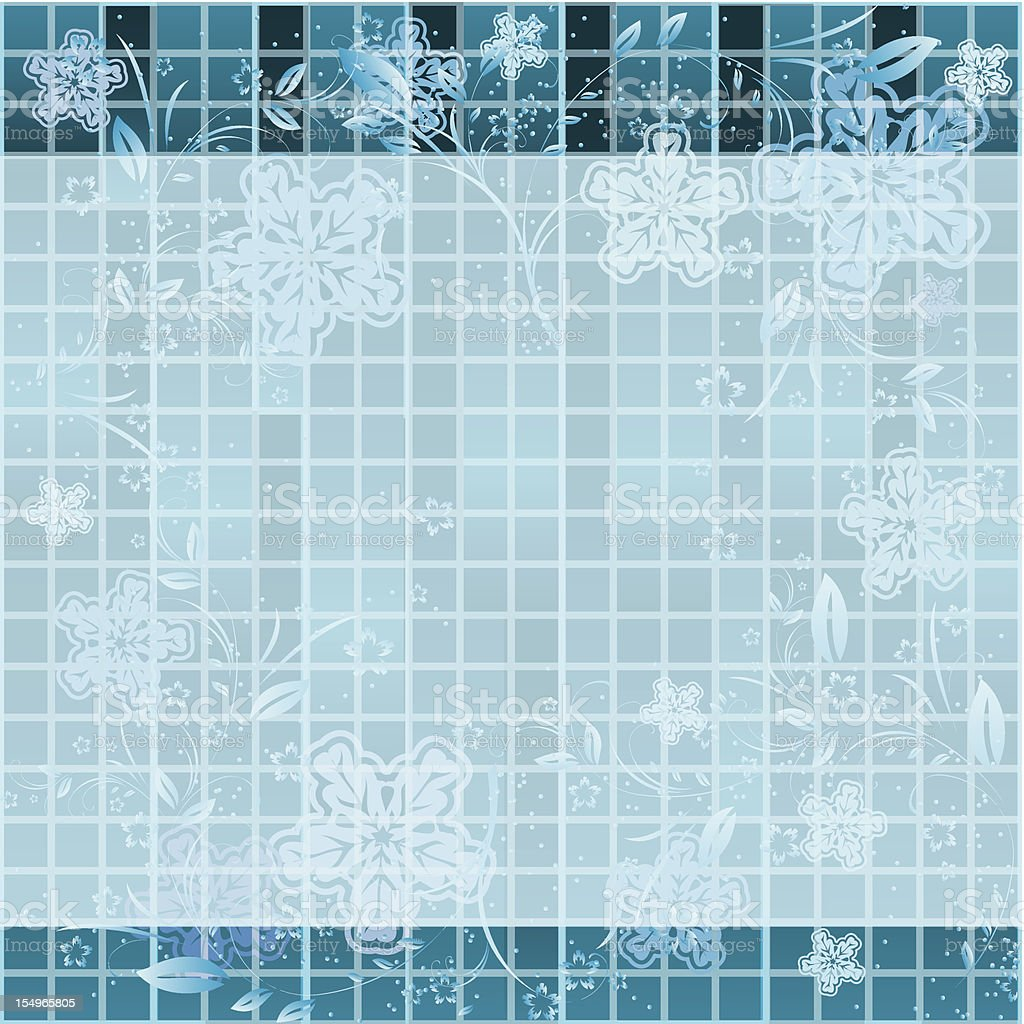 winter abstraction. Vector blue background