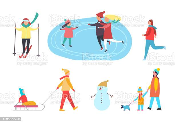 Winter activities skiing skating on rink vector vector id1185877720?b=1&k=6&m=1185877720&s=612x612&h=rics9evoojthrvcr6y8r iwpu6diybw56zbj7ahe0uk=