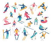Male skier on ski slope