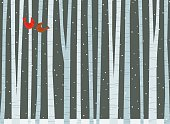 Winter Among the Birch Trees