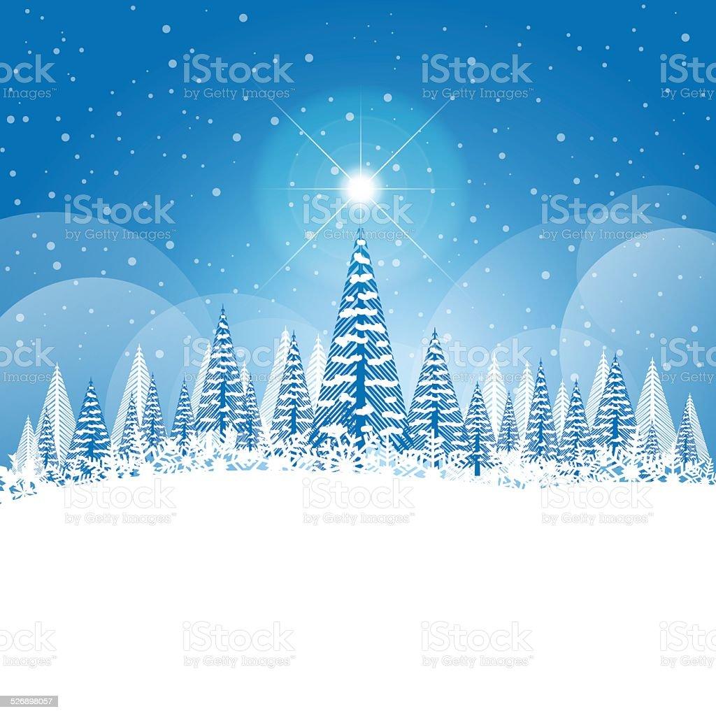 Foto Con La Neve Di Natale.Inverno Paesaggio Di Natale Con La Neve E Gli Alberi Immagini Vettoriali Stock E Altre Immagini Di A Forma Di Stella Istock