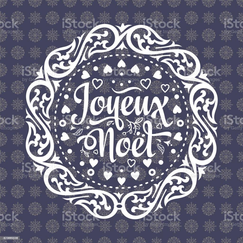 Ilustración De Fondo De Invierno Navidad Tarjeta Joyeux Noel