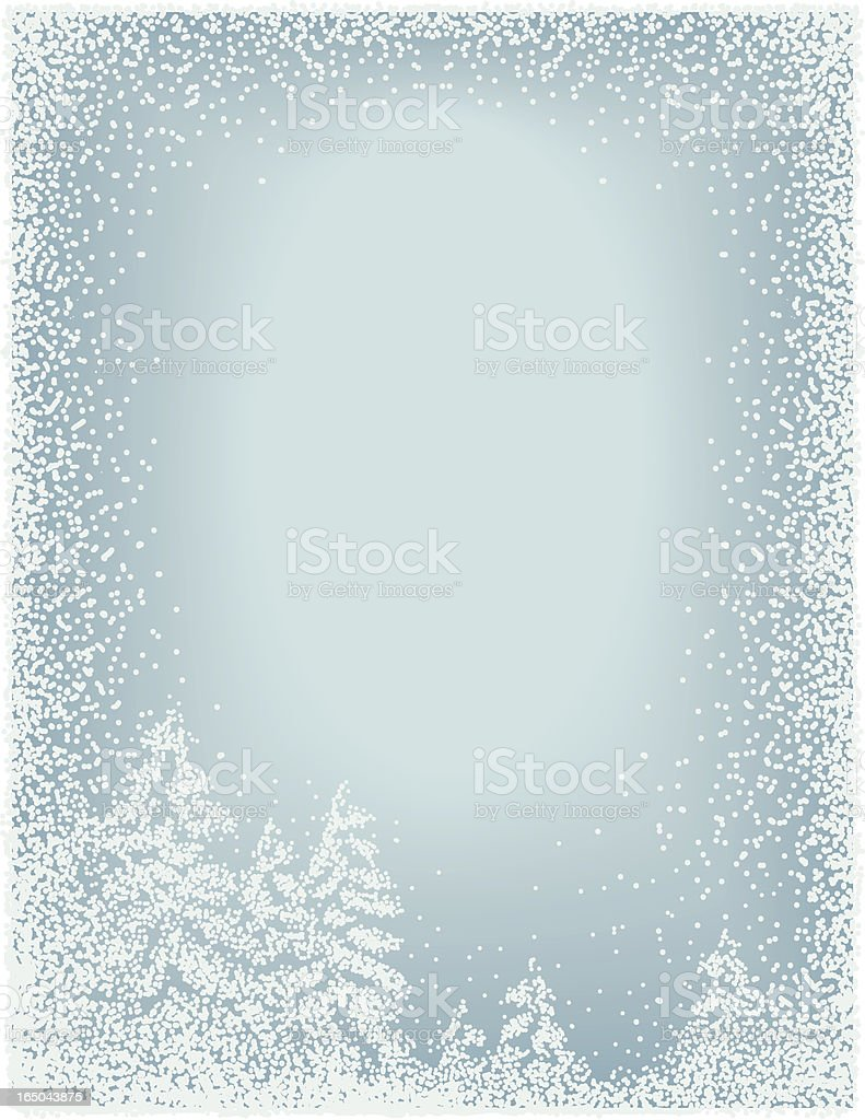 Winter background frame vector art illustration