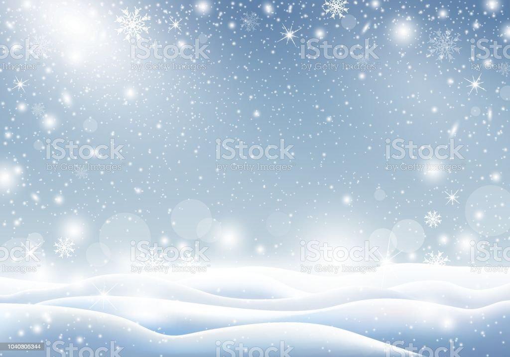 Winter Hintergrund Der Fallende Schnee Weihnachtskarte Design ...