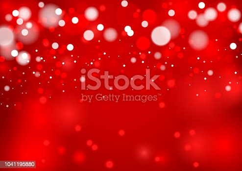 Red colored winter background